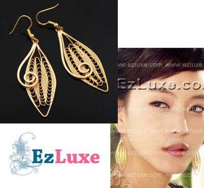 Korean drama Couple Trouble Palace Gold Drop Earrings ♥