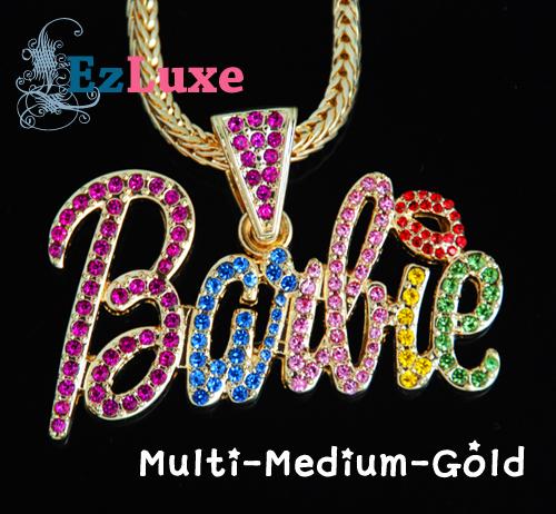 ICED NICKI MINAJ Barbie Pendant Ladies Hip Hop Necklace